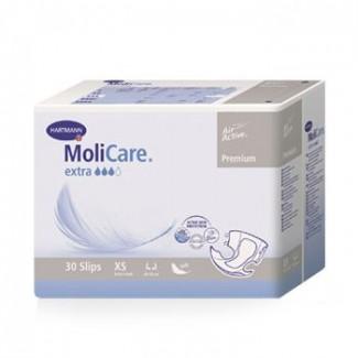 Подгузники для взрослых MoliCare Premium Extra Soft Extra Small, объем талии 40 - 60 см., 30 шт.