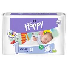 Подгузники детские Baby Happy Newborn, вес 2-5 кг., 25 шт.