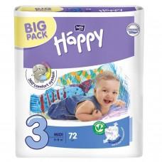 Подгузники Bella Baby Happy midi 3 5-9 кг 72шт