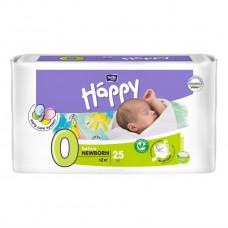 Подгузники Baby Happy 0 before Newborn 0-2 кг, 25 шт