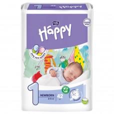 Подгузники детские Baby Happy Newborn, вес 2-5 кг., 42 шт.