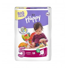 Подгузники Bella Baby Happy Junior, 58 шт, 12-25 кг