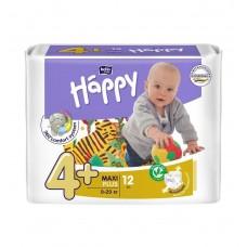 Подгузники Bella Baby Happy Maxi Plus, 12 шт, 9-20 кг